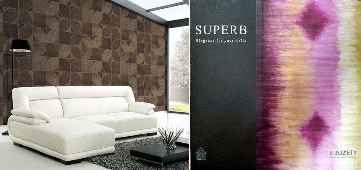 Kaizen surfaces importers, distributors of wall papers and wallcoverings commercial hub of india, Mumbai